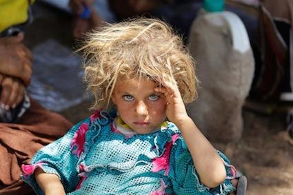 Enfant yazidis, Phot. Youssef Boudlal
