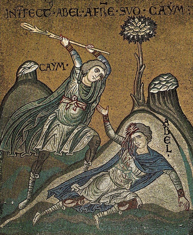 Monreale, Sicile, Cain et Abel