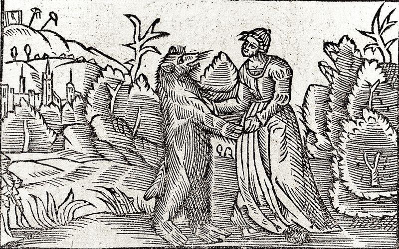 Chevrière et l'ours