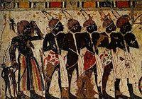 Fresque égyptienne, Nubiens